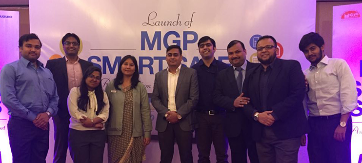 Group Photo at the launch of the MGP Smart Sales App